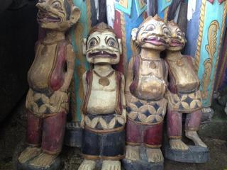 バリ島の木彫り